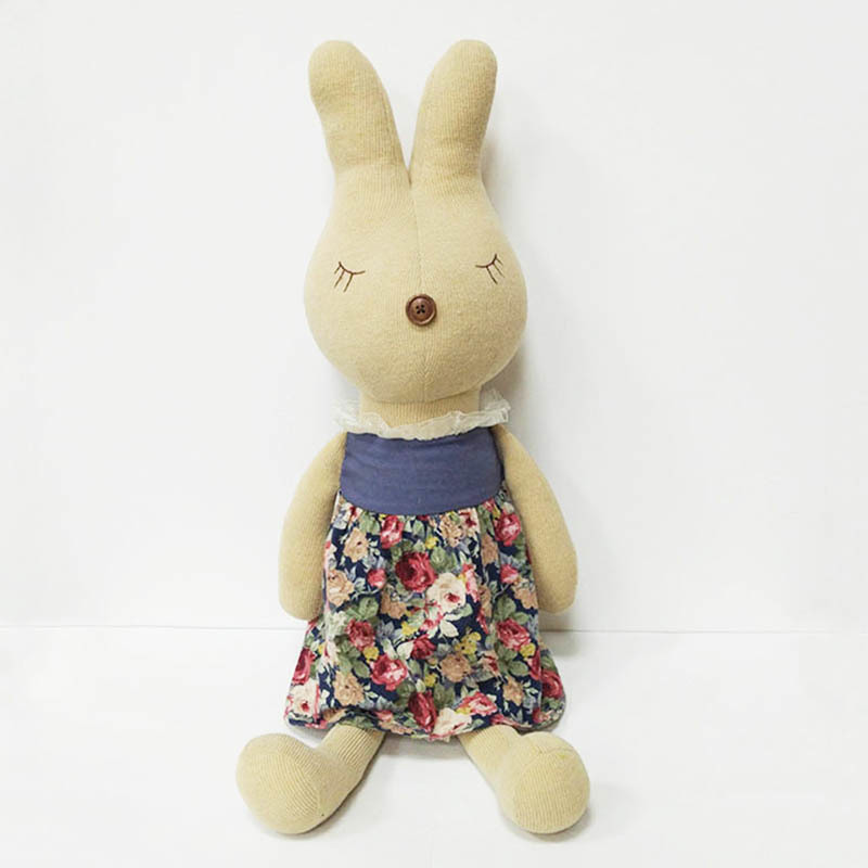 Personalized Stuffed Animals Flower Dress Rabbit Toys