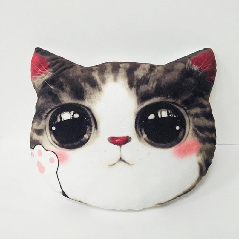 Kitten Print Indoor Pillow