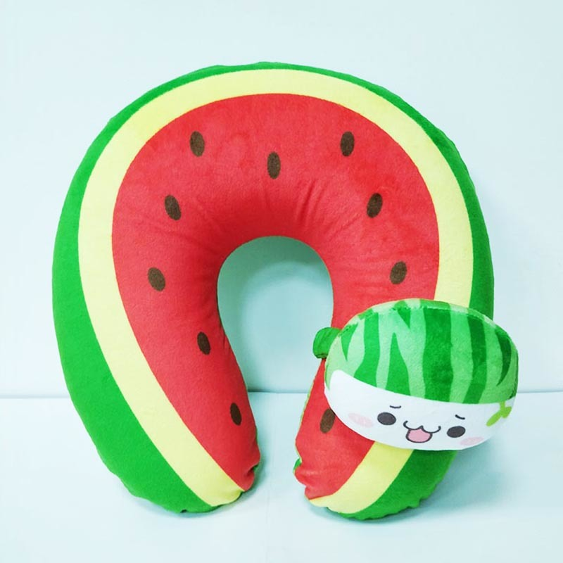 Watermelon U-Shaped Soft Sofa Pillow