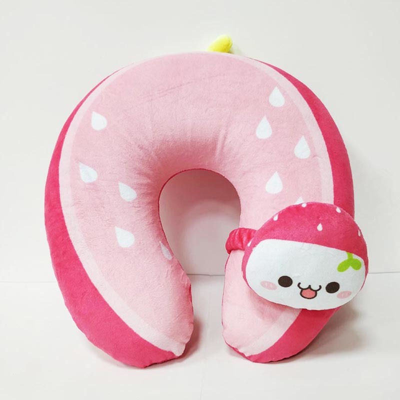 Cute Strawberry U-Shaped Head Pillow