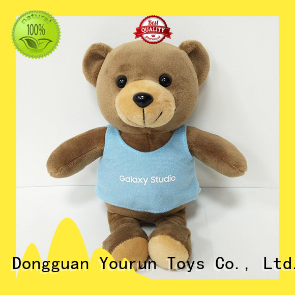 YouRun custom plush bear toy manufacturers for baby boy