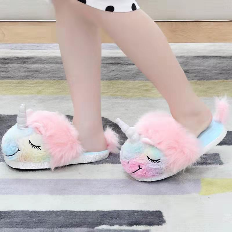 Furry Plush Slippers For Children