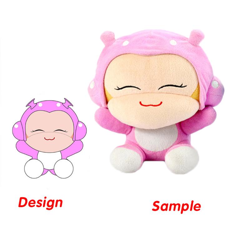 Custom Fashion Soft Plush Toys  for Crane Machines