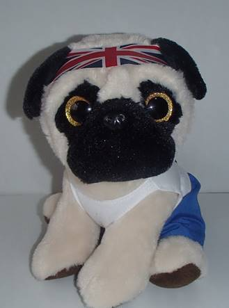 Custom Animal Plush Toys Pug Dog Ty Beanie Soft Toys